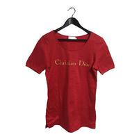 Dior logo tee red