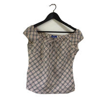 Burberry check design ribbon tops