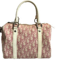 Dior trotter design Boston bag pink