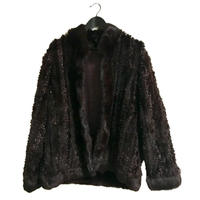 design fur coat dark blown