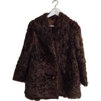 lamb fur coat blown