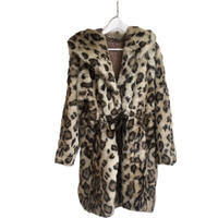 leopard gown fur coat