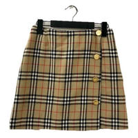 Burberry check design gold button mini skirt(No.3298)