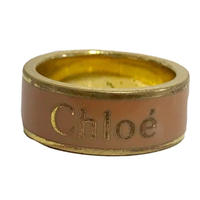 Chloé logo design ring pink