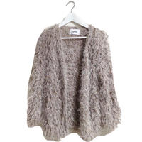 dusty pink mohair cardigan