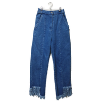 fringe denim Light BLUE