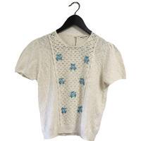 blue flower summer knit