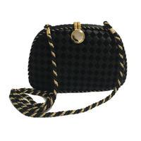 gold black design shoulder bag