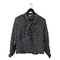 monotone flower blouse