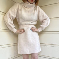 arm volume knit one-piece baby pink(No.2337)
