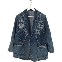 cord studs denim jacket