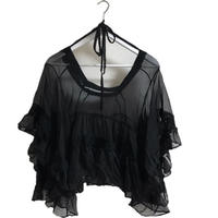 see-through frill blouse