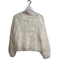 white boa knit