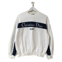 Dior logo tops white