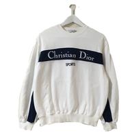 Dior logo tops white