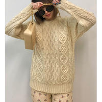 cable knit ivory(No.3076)