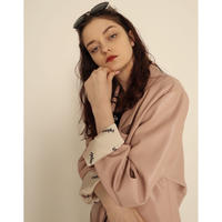 épine logo lining leather jacket pink