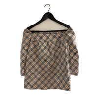 Burberry check square neck tops(No.3370)