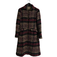 check design long coat