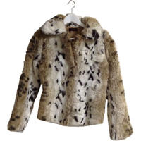 leopard design fur coat