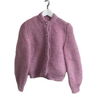 pearl botton knit pink