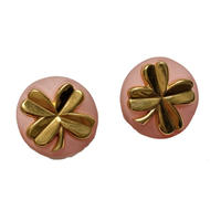 Clover motif vintage earring(No.4144)