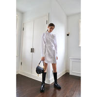 square frill back ribbon shirt onepiece white