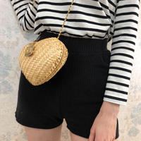 lib  knit short pants black