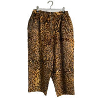 leopard fur pants