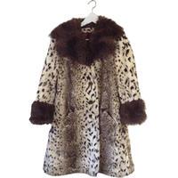 leopard fur design coat