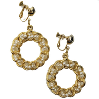 pearl gold hoop earrings