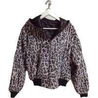 monotone leopard quilting down