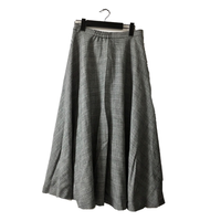 glen check design flare skirt