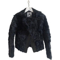 Lamb leather fur outer