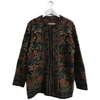antique flower knit cardigan