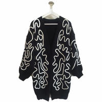 cord design knit cardigan