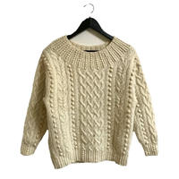 ponpon design knit Ivory