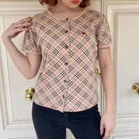 burberry check horse button tops (No.4361)