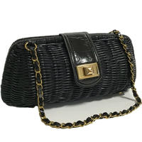 bucket chain bag black