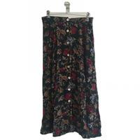 moss green design skirt