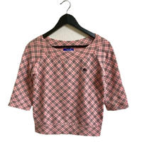 Burberry check design tops pink