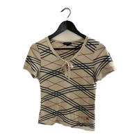 Burberry summer knit ribbon tops
