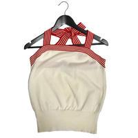 Dior border design halter neck tops