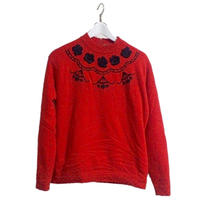 bijou design red knit