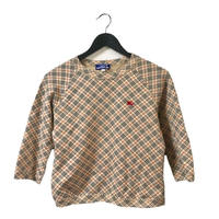 Burberry check design sweat(No.3327)