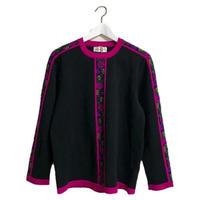 YSL flower line design knit