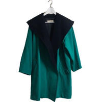 bi-color design coat green