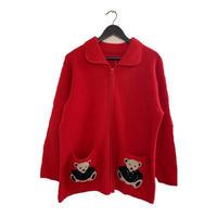 Bear design wool jumper(No.3133)