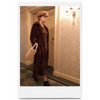 long fur coat sweet brown