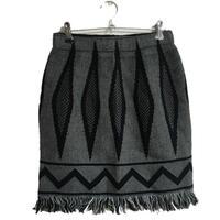 fringe design skirtblack
